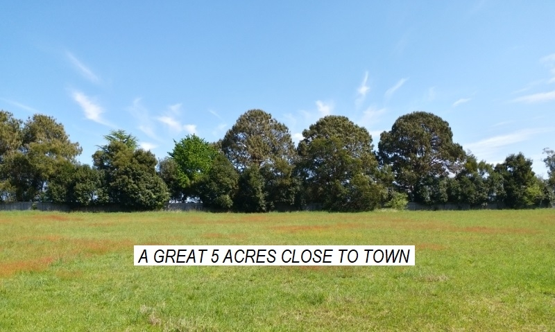 5 ACRES - SO CLOSE TO TOWN!