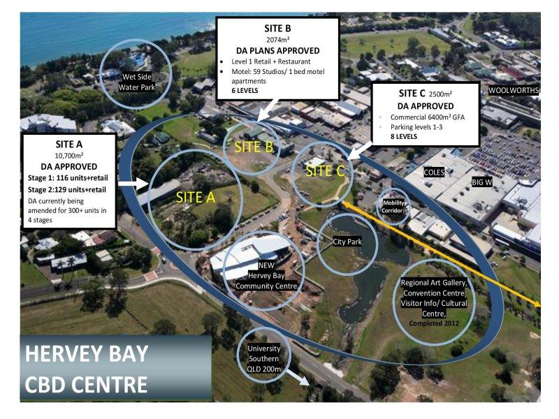 MAJOR MIXED USE DA APPROVED CBD DEVELOPMENT SITE AT HERVEY BAY QLD
